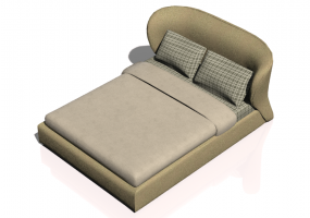 Beds and Side Cabinets 3D - Bed structure 181x235cm - Natuzzi - Oasi