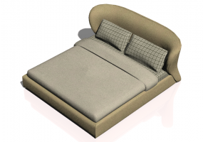 Beds and Side Cabinets 3D - Bed structure 221x235cm - Natuzzi - Oasi