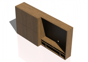 3D Wall Cabinet - Modular system 248x127cm - Natuzzi - Novecento