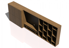 3D Wall Cabinet - Modular system 372x127cm - Natuzzi - Novecento