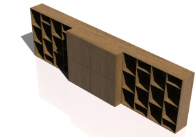 3D Wall Cabinet - Modular system 372x126cm - Natuzzi - Novecento