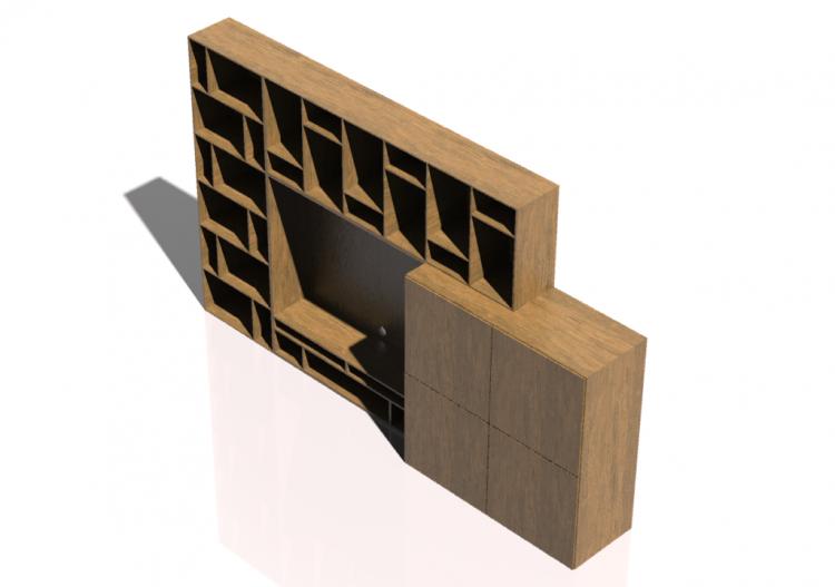 attrezzate 3D - Sistema componibile 310x189cm -...