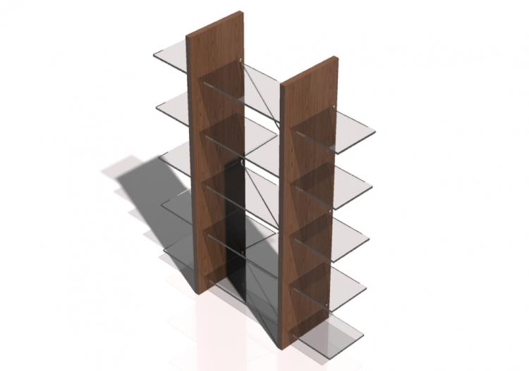 Wall Cabinet Modular System 126x160cm Natuzzi Proxima