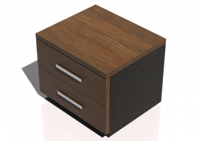 Beds and Side Cabinets 3D - 2 Drawers bedside cabinet 54x44x40cm