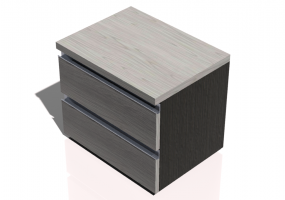 Beds and Side Cabinets 3D - 2 Drawers bedside cabinet 54x41x45cm