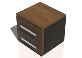 Beds and Side Cabinets 3D - 2 Drawers bedside cabinet 50x46x45cm