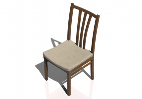 3D Chairs - Wooden Chair