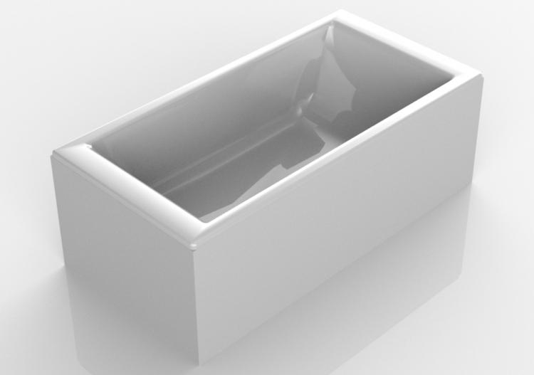 Vasca Da Bagno Rettangolare : Vasca da bagno rettangolare in acciaio smaltato betteloft vasca