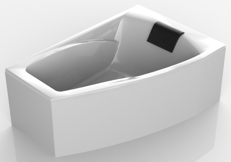 Vasca Da Bagno Asimmetrica : Vasche da bagno d vasca da bagno ad angolo cm