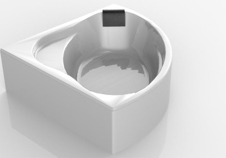 Vasche da bagno 3d vasca da bagno ad angolo 145x145cm - Vasche da bagno ad angolo prezzi ...