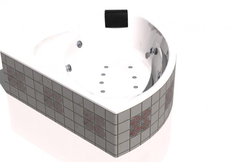 vasche da bagno 3d vasca da bagno ad angolo con idromassaggio 145x145cm roca bali