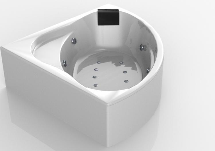 da bagno 3D - Vasca da bagno ad angolo con...