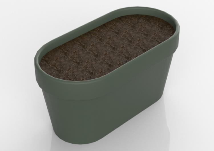 Fiori Bagnoli Irpino : Panchine 3d vaso per fiori e piante rettangolare acca