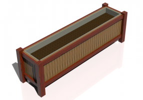 3D Benches - Wooden floor planter for gardens and terraces