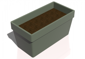 3D Benches - Rectangular Vase for flowers and plants