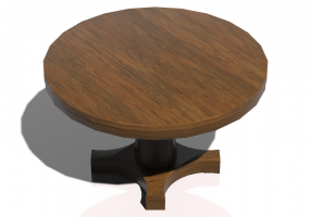 Tables 3D - Table circulaire 125x125cm