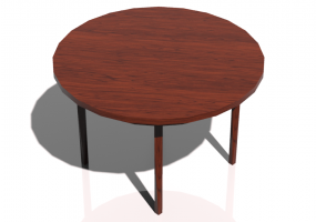 Tables 3D - Table circulaire 120x120cm