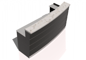 Comptoirs 3D - Linear Counter 240x120cm