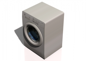 3D Electrical Appliances - Front loading washing Machine 60x55x85cm