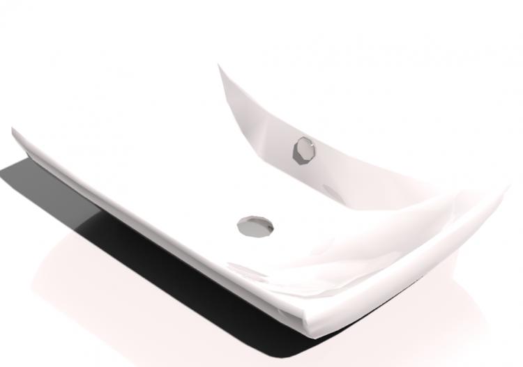 3D - Lavandino bagno sospeso 60x40cm - ACCA software
