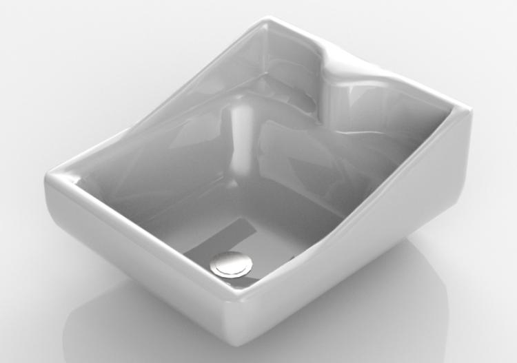 Lavello Bagno Sospeso : Lavabi 3d lavandino bagno sospeso 55x60cm acca software