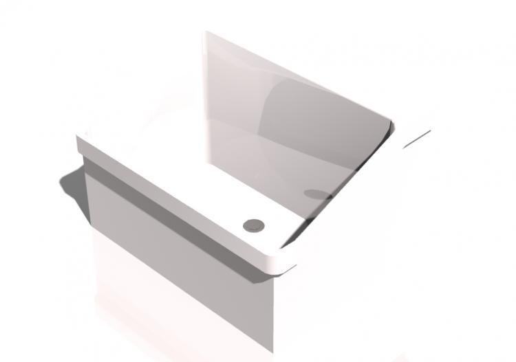 3D - Lavandino bagno sospeso 70x55cm - ACCA software