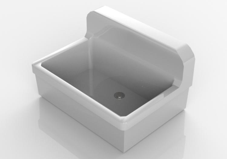 Lavabi 3D - Lavandino bagno sospeso 75x55cm - ACCA software