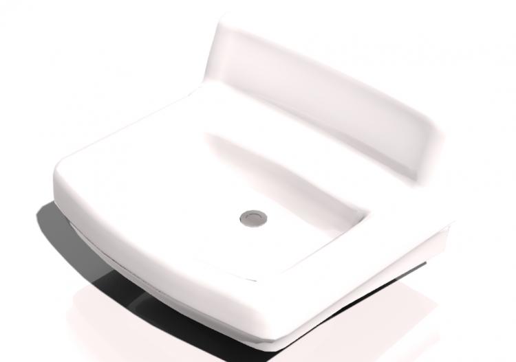 3D - Lavandino bagno sospeso 50x45cm - ACCA software