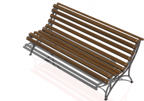 3D Benches - Metal and wooden bench 150x65x75cm - Hobbyka – Park