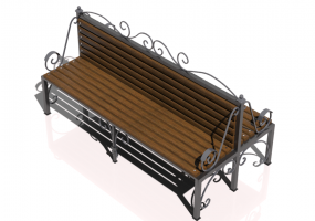 3D Benches - Metal and wooden bench 180x90x98cm - Hobbyka – Passage