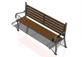 3D Benches - Metal and wooden bench 150x57x79cm - Hobbyka – Patterns