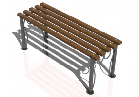 3D Benches - Metal and wooden bench 120x44x48cm - Hobbyka – Patterns