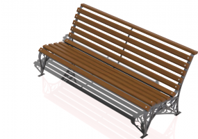 3D Benches - Metal and wooden bench 150x70x74cm - Hobbyka – Riviera