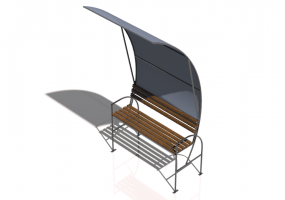 3D Benches - Metal and wooden bench 150x110x300cm - Hobbyka – Sail