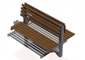 3D Benches - Metal and wooden bench 150x110x109cm - Hobbyka – Twin