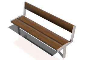 3D Benches - Metal and wooden bench 180x60x82cm - Hobbyka – Vika