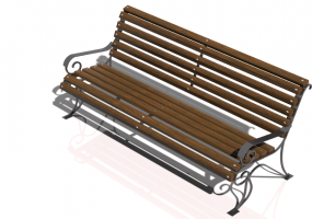 3D Benches - Metal and wooden bench 150x66x85cm - Hobbyka – Voyage
