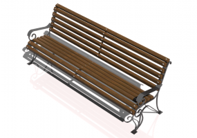 3D Benches - Metal and wooden bench 200x66x85cm - Hobbyka – Voyage