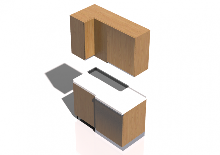 3d k chen block ecke speisekammer schrank 64x124x216cm. Black Bedroom Furniture Sets. Home Design Ideas
