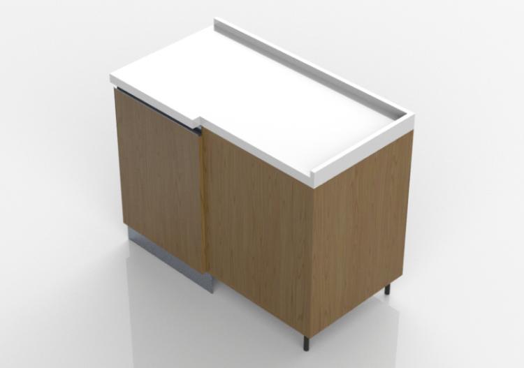 3d k chen block ecke speisekammer schrank 109x64cm acca. Black Bedroom Furniture Sets. Home Design Ideas