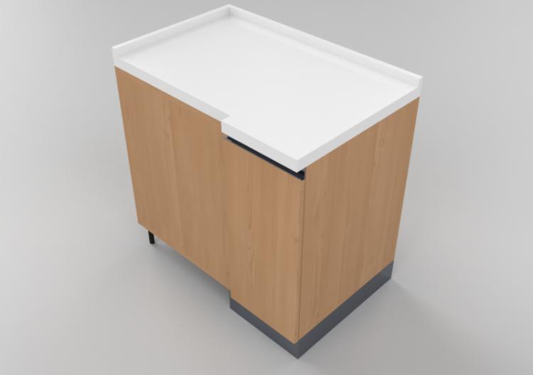 Cucine 3D - Blocco dispensa angolare 64x90cm - ACCA...