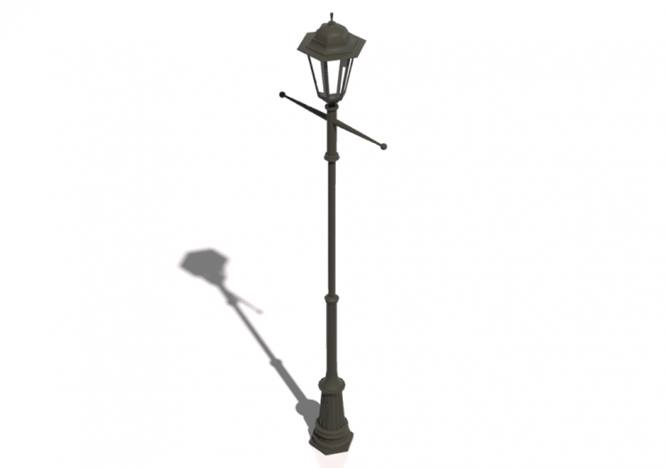 Lamppost With A Single Lamp