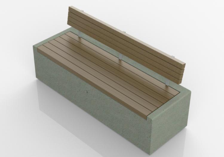 d sitzbnke und betonbank mit holzsitz with betonbank