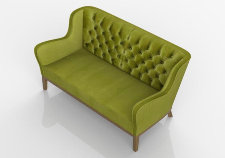 3d Sessel Und Sofas Sofa Coffee Shop 2 Sitzer Kare