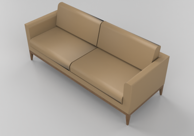 Two Seater Leather Sofa Giulio