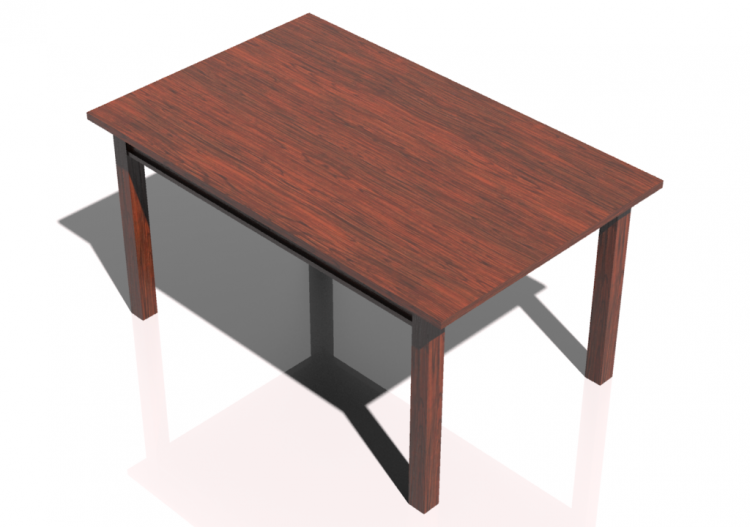 tavoli 3d tavolo rettangolare 150x95cm acca software