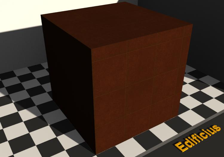 Texture pavimenti cotto marrone 30x30 allineata acca