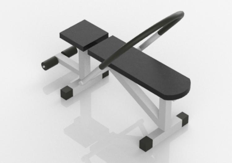 Fitness 3d Banc Pour Abdominaux Acca Software