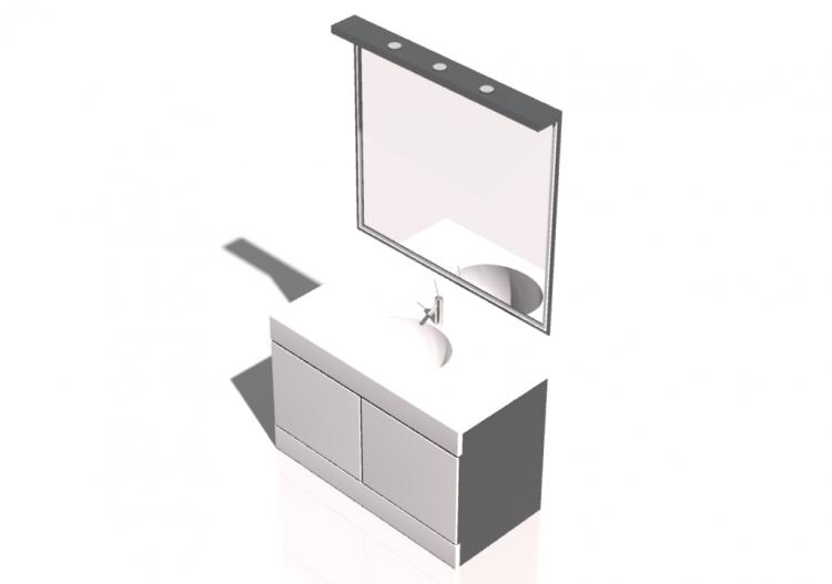 3d waschbecken composizione bagno lavabo specchio 02 for Specchio bagno 3d