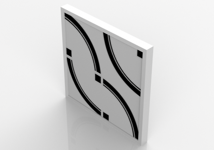 Cuadros 3D - Cuadro abstracto - Sierra - Emporio - E70788 -...